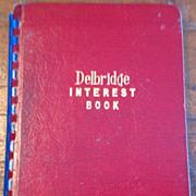SALE 1945 Delbridge Interest Book No. 102