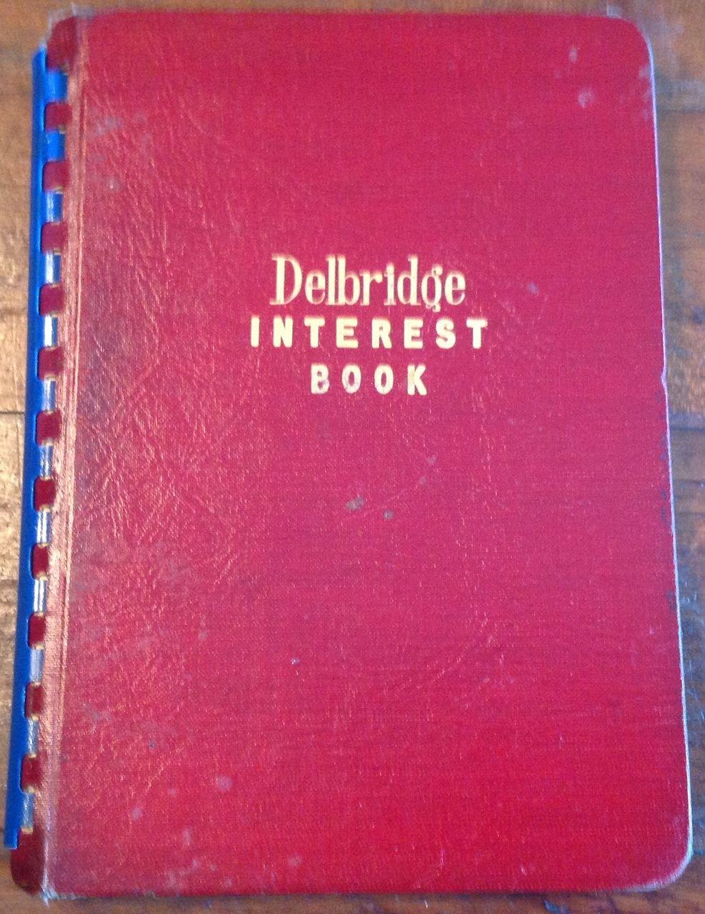 1945 Delbridge Interest Book No. 102