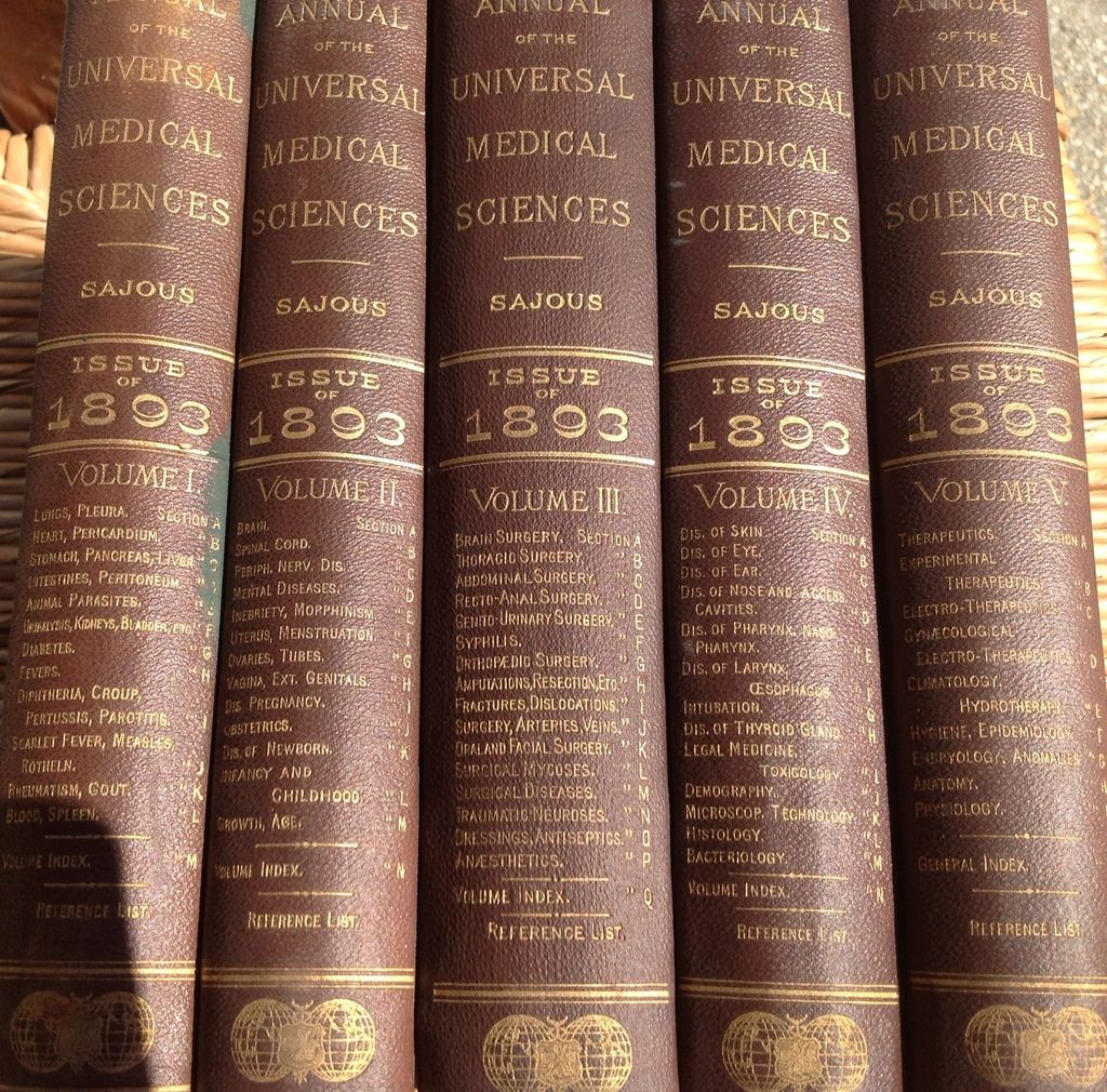 Five Volume Set 1893 Annual Of The Universal Medical Sciences