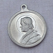 Vintage St. Pius X Pray For Us Medal Pendant