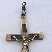 Victorian Nuns Or Priests Crucifix