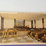 Vintage State Supreme Court Louisiana State Capitol Post Card