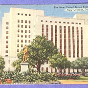 Vintage 1942 New United States Federal Building New Orleans Post Card