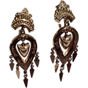 SOLD Victorian Gold Filled Dangle Earrings
