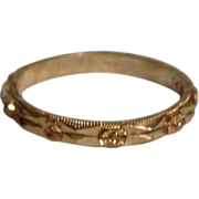 Vintage 14K Yellow Gold Wedding Eternity Ring Band