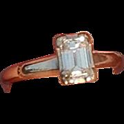 REDUCED Beautiful 14K White Gold Emerald Cut Diamond Engagement Ring