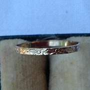 REDUCED Vintage 10K Gold Baby Band Ring