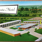 Vintage Fiesta Motel Baton Rouge Louisiana Post Card