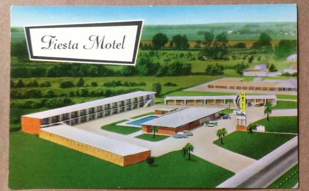 Vintage Fiesta Motel Baton Rouge Louisiana Post Card