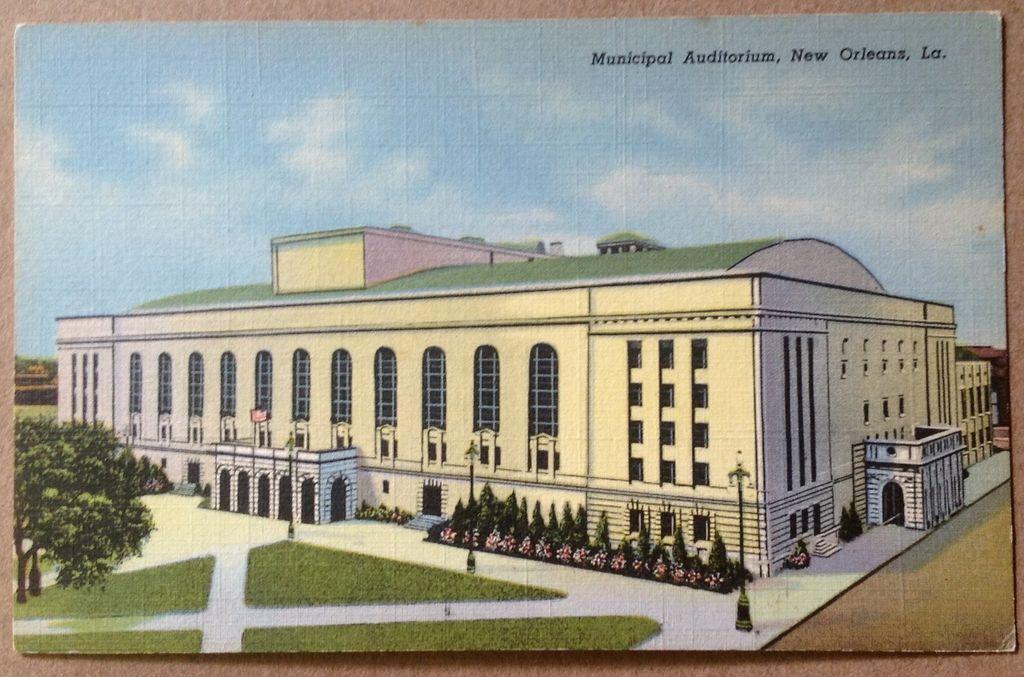 Vintage Municipal Auditorium New Orleans Louisiana Post Card