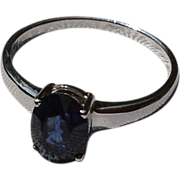REDUCED Vintage 18K Gold 1.51Ct. Sapphire Solitaire Engagement Ring