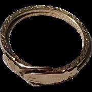 REDUCED Victorian 10K Gold Gimmel Fede Wedding Ring Band