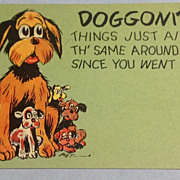 Vintage Doggonit Comic Post Card