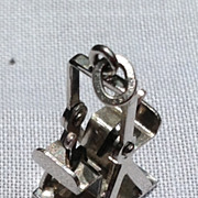 Vintage Sterling Silver Enamel Double Seated Glider Charm