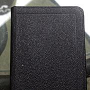 Vintage National Black Leather Address Book