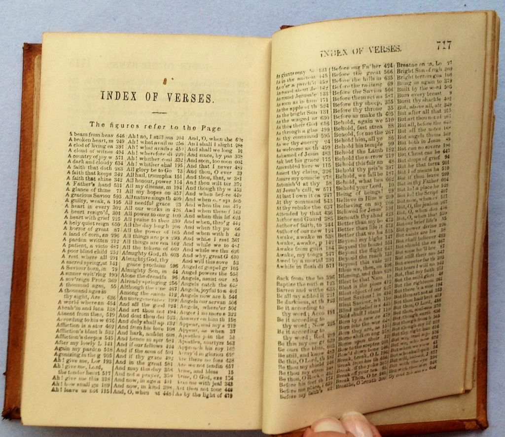 1849 Hymns For The Use Of The Methodist Episcopal Church