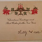 Art Deco Christmas Greetings & New Year Card