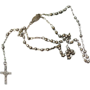 Victorian Sterling Silver Miniature Baby Rosary