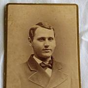 Vintage Photo Cabinet Card Gentleman
