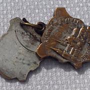 Vintage French St. Anne De Beaupre Reliquary Sliding Medal