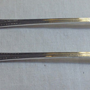 Set Of Two Community Silver Silver Plate Seafood Forks