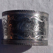 Victorian Silver Plate Napkin Ring