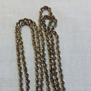 "Vintage Gold Filled 28"" Rope Chain Necklace"