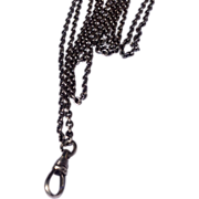 REDUCED Victorian Sterling Silver Watch Chain :Lorgnette Chain:Muff Chain