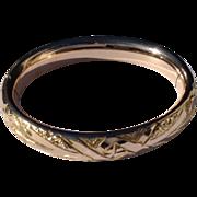 REDUCED Vintage Gold Filled Hinged Bangle Bracelet