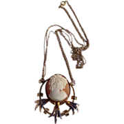 REDUCED Vintage Gold Filled Cameo Necklace