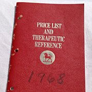 1968 Burroughs Wellcome & Co. Price List & Therapeutic Reference