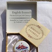 Vintage Crummles English Enamel Box