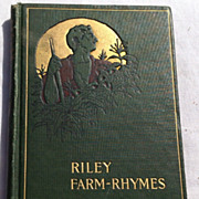 1905 Riley Farm Rhymes By James Whitcomb Riley