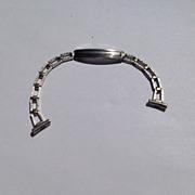 Vintage White Gold Filled Watch Band Bracelet