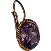 Vintage Gold Vermeil Amethyst Single Earring