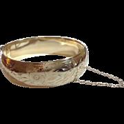 REDUCED Vintage Gold Filled Bangle Bracelet