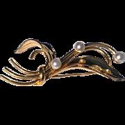 Vintage 12 K Gold Filled Faux Pearl  Forstnor