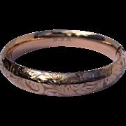 REDUCED Victorian Gold Filled Hinged Bangle Bracelet