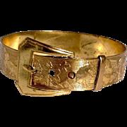 Victorian Gold Filled Child's Animal Motif Buckle Bracelet
