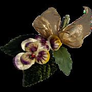 Vintage Pansy Millinery Flower