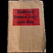 Vintage Rumford Common Sense Cook Book