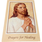 Vintage Prayers For Healing Prayer Card
