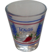 Vintage 1980's Texas Glass Jigger