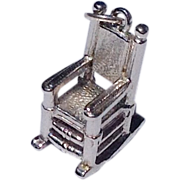 Vintage Sterlin Silver Rocker Charm