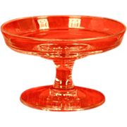 """Vintage Glass Compote 3"""" tall and 4 3/4"""" top opening"""