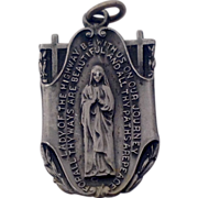 1940 Virgin Mary Our Lady Of The Highway Medal