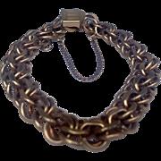 Vintage 12 K Gold Filled Charm Bracelet