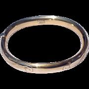 Vintage Winard 12 K Gold Filled Hinged Bangle Bracelet