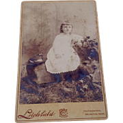 Vintage Cabinet Photo Card Young Child