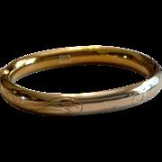 Vintage Winard 12 K Gold Filled Bangle Bracelet